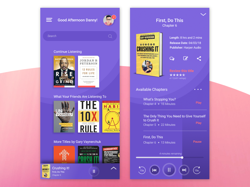 Audio book app concept by LaBlanca Ponder on Dribbble
