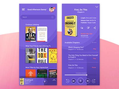 Audio book app concept