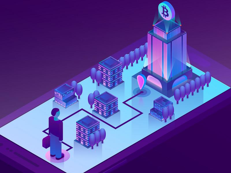 Blockchain Cryptocurrency Illustration digital graphic design currency crypto blockchain illustration