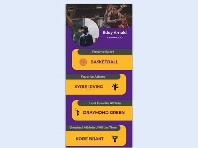 Your favorite Sports App Mockup Concept 02