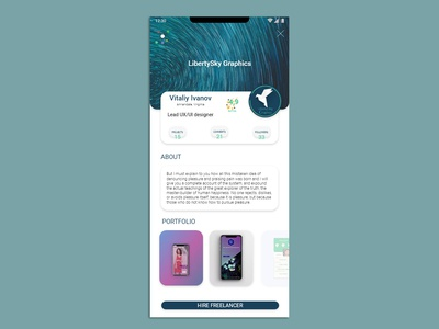 006 Dayli UI: User Profile Mockup