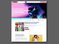 Website design for independent record label
