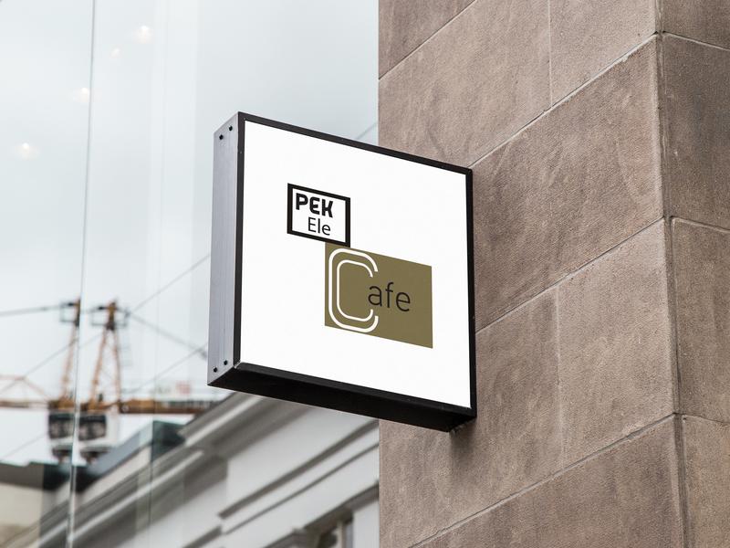 Pekele Cafe Branding typography logo design branding illustration