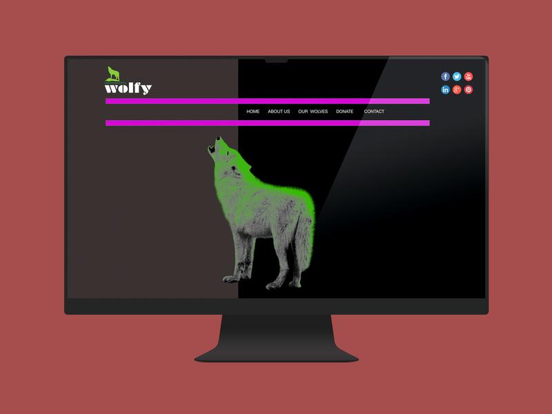Environmental Wolfy Website website design logo web ux ui