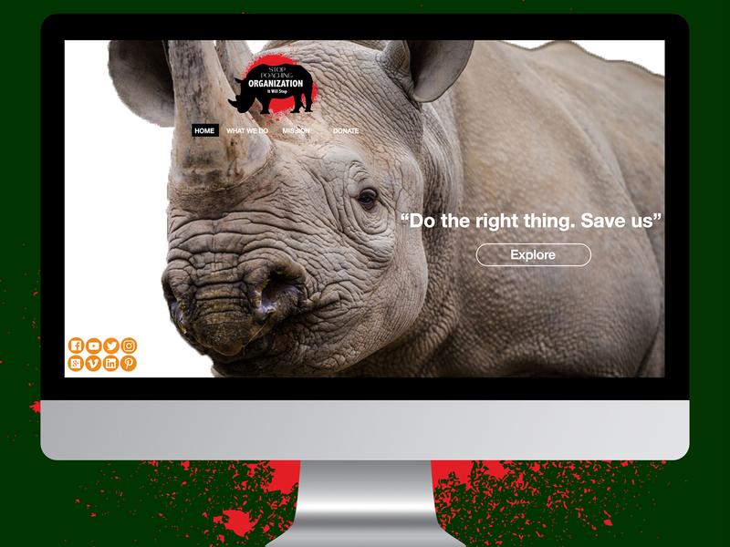 Stop Poaching Organization Website website design logo web ux ui