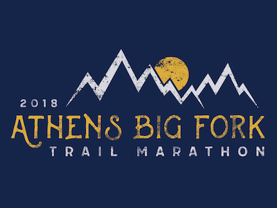 Athens Big Fork Trail Marathon arkansas mountain screen printing screen printed screen print typography design shirt shirt design marathon trail trail marathon