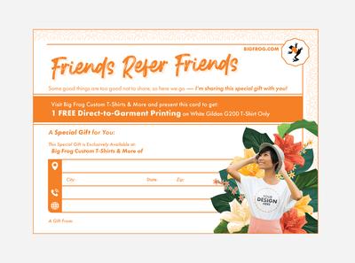 Friends Refer Friends Postcard