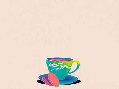 Cuppa procreateapp adobeaftereffects teaday teacup animate animation illustration tea