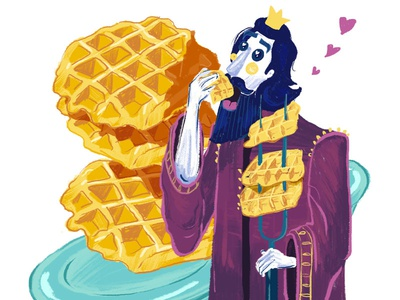 A part of a series for a waffle place opening soon