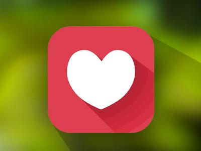 Heart iOS7 ios7 ui button clear