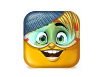 Ava avatar icon icooon character