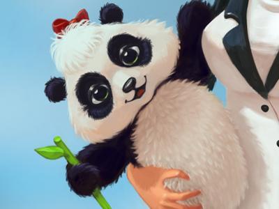 Panda panda toy character