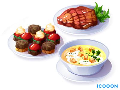 Some food dish food game art