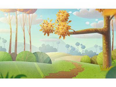 One More Background back background illusstration cartoon