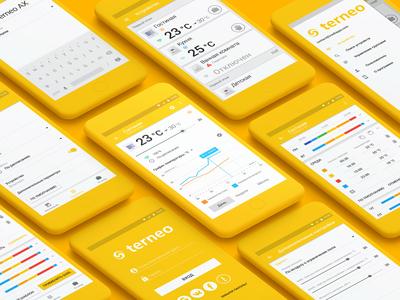 Terneo smart floor UI smart design ui  ux