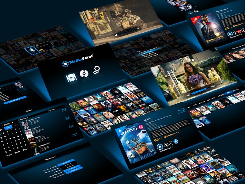 MediaPoint - Digital Media Player UI xaml wpf gui design tv app ux ui ui  ux design