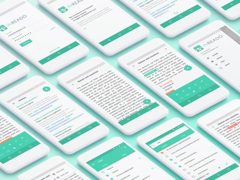 Teaching languages reader UI interface android uidesign languages text reader uiux