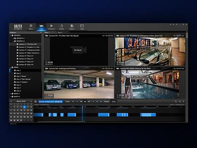 Video monitoring UI design ui not flat desktop app gui design ui  ux xaml wpf cctv