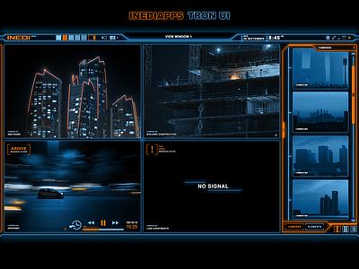 Camera monitoring app UI desktop app ui  ux interface monitoring xaml wpf uidesign ui tron