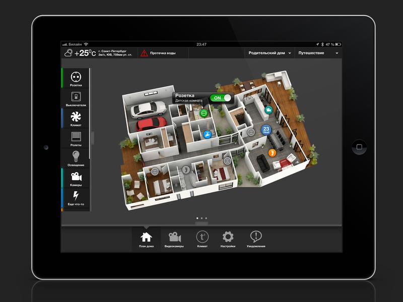 Smart Home GUI app design tablet gui interface inediapps design smart house smart home ipad ui