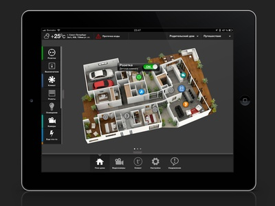 Smart Home GUI app design tablet gui interface inediapps design smart house smart home ipad ui