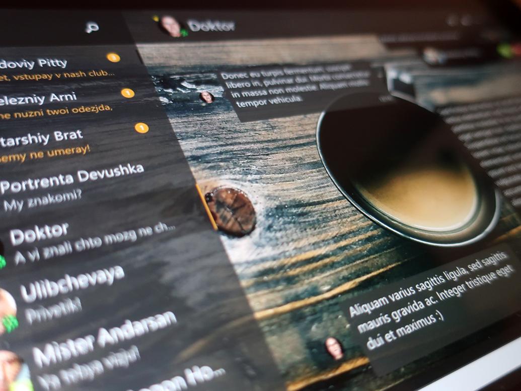 UI for jabber messenger messenger wpf desktop app ui  ux ui interface inediapps uidesign xaml uwp