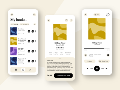 Reading - Audiobook app ux library audio bookstore mobile app user interface audio app mobile uidesign ui books book ebooks audibook reading read ebook