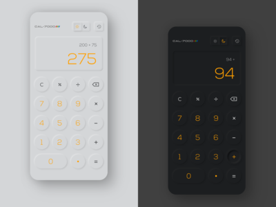 Calculator Neumorphism dark mode mobile app neumorphic design neumorphism calculator ui calculate calculator app calculator app ux ui