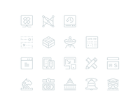 Single stroke icons