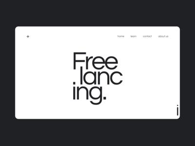 Freelancing concept landing page
