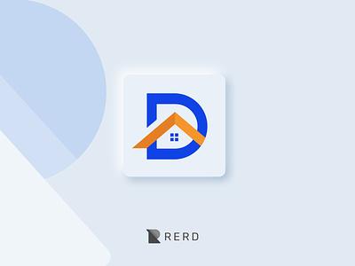 Devout Architecture Logo engineering construction building simple logo ui blue logo newlogodesign new logos logodesign architect architecture brand identity branding logo design logo