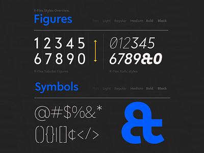 R-Flex Font Family regular bold classy font grotesque cyrilic multilingual sanserif fonts font family font design free font