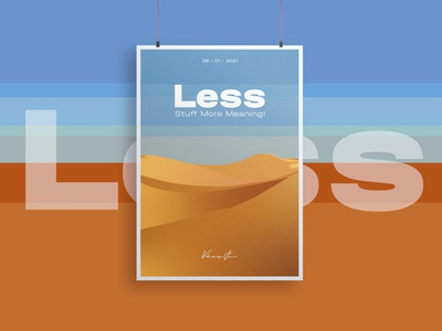 Less Stuff more meaning canvas art canvas canvas wall art canvas print canvasart canva flyer beauty colorful clean empty desert posters poster a day poster design poster art poster