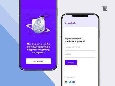 Jobos uidesign uiux freelancer freelance job listing job board job mobile app design mobile app mobile ui mobile ui ux