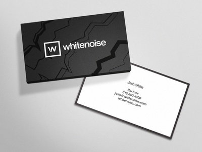 Whitenoise card by oshin studio dribbble received approval on the final business card designs spot uv coating on the noise lines should be pretty rad colourmoves