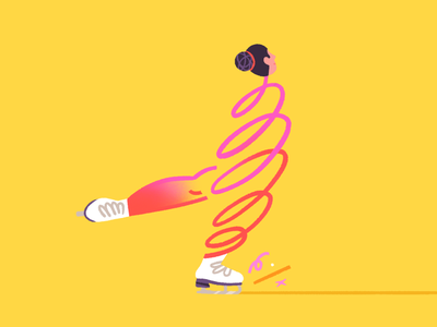 Some smooth figure staking vibes ⛸✨✨ skater figure scribble smooth 2d character illustration