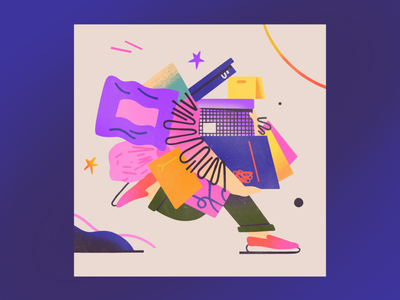 Favorite activity flat 2d character illustration
