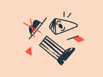 Brand illustration - 404 minimalistic character illustration expressive pencil landing brand site web ui shapes flat simple character illustration 2d