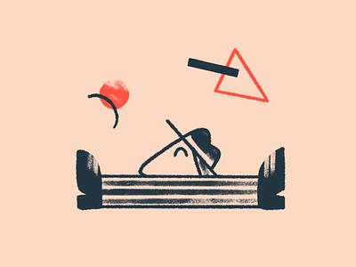 Brand illustration - Start spot illustration app ui mascot main startup landing web geometry shapes flat simple character illustration 2d