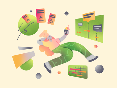Cooking app illustration: Scheduling cuisine chef food flat calendar schedule culinary onboarding illustration landing illustration ui app cooking app cook simple character illustration 2d