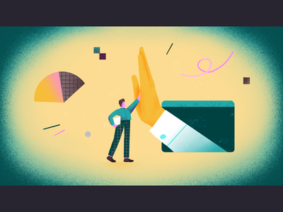 Helping employees / achievement - editorial illustration brand illustration web factor fear teamwork editorial illustration dedication achievement cybersecurity busines culture employee assist shapes flat simple character illustration 2d