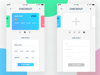 Daily UI 002 - Credit Card Checkout adobe dailyuichallenge ui typography illustration checkout pay onlinebank bank colours adobephotoshop adobexd graphicdesign uiux dailui userinterface creditcard creditcardcheckout dailyui 002 dailyui