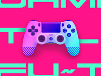 PS4 Controller - Sweet Sunset