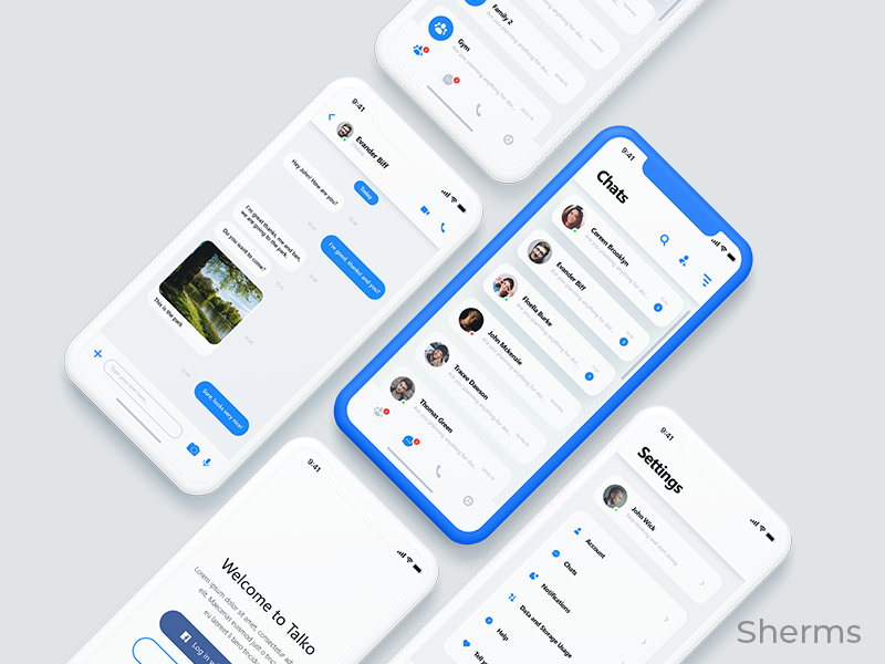 Social Media App Ui Concept By Sherman Tan Design Inspiration