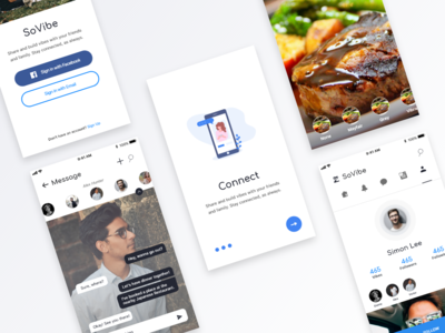 Redesign Concept for SoVibe design illustration social media sign in messaging log in onboarding iphone ios iphone x ux ui