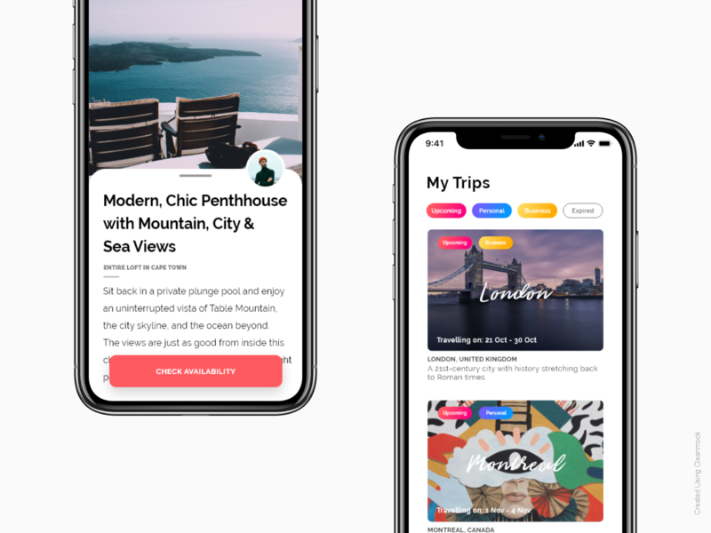 Travel App Booking airbnb social media sign in messaging log in design onboarding iphone ios ux ui iphone x