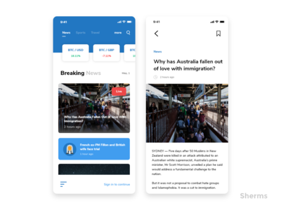News App iOS Concept vector design iphone x iphone ui design ui  ux apple news app ios 12 ios app  design app ux ui