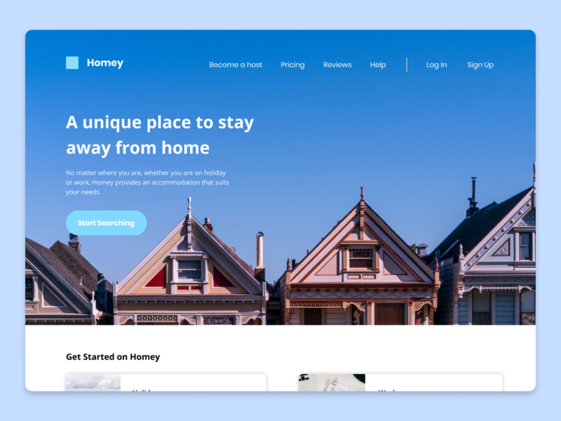 Home Rental Frontpage Concept website concept home rental homepage websites website design webdesign website