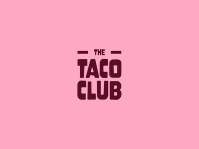 Taco Club Logo Concept 🌮 illustration cleverlogo clean website character luxury logo luxury design identity clean design art design branding