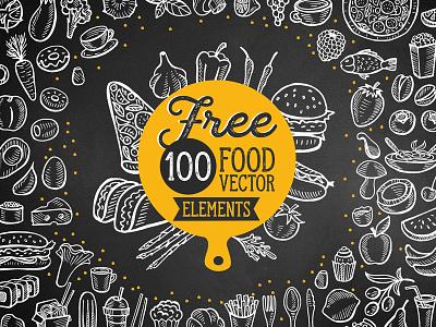 Free 100 Food Illustrations Vector vector free ai download freebie free design food menu illustration